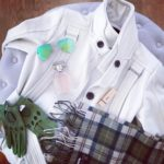 Its snowing outsideelegance greenandwhite instadaily details designer look fashion chichellip