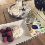 Strawberries and Cottage cheese really tasty and healthy snack Ifhellip