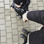 Todays look  me and mini me ootd burberry blondehairhellip