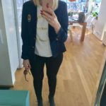 Todays business chic outfit ootd hm blondehair chic style trendyhellip