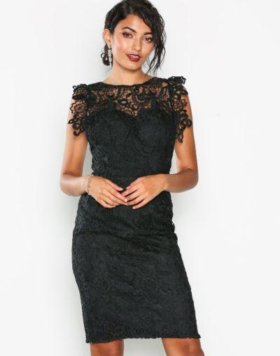 Svart spets klänning