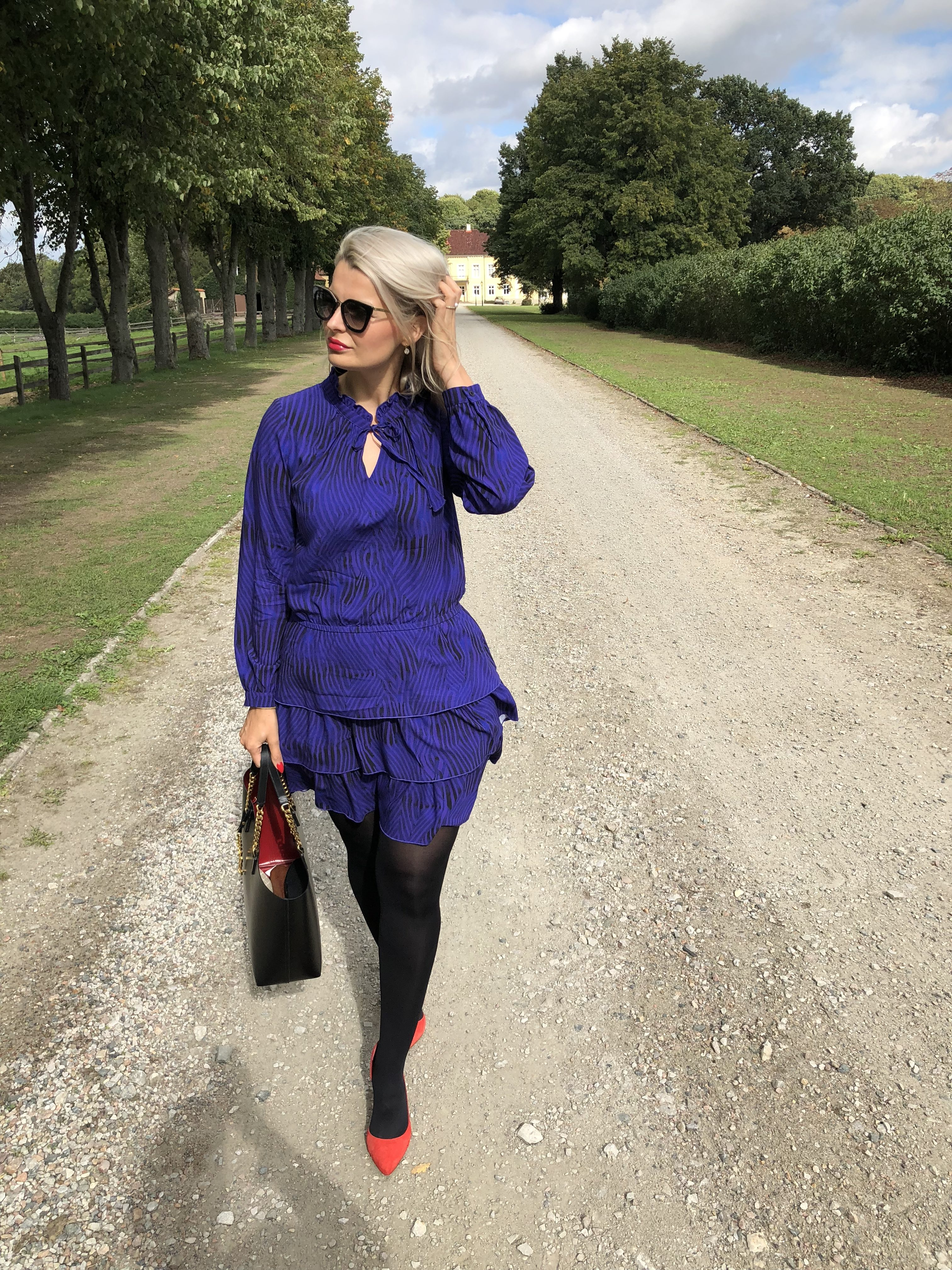 Lila klänning från Veronica Virta