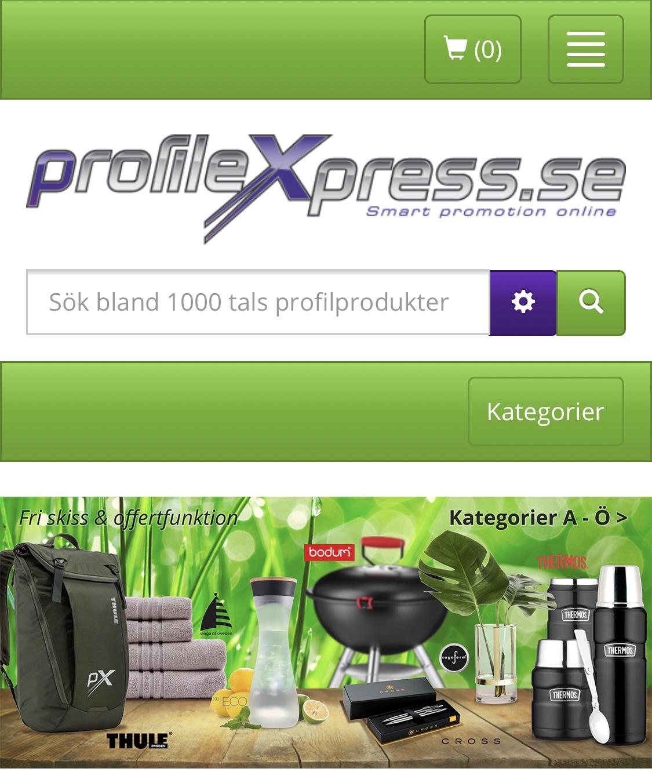 Profilmaterial - Väskor med tryck