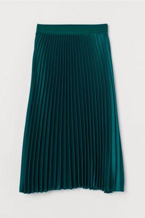 Plisserad kjol – mörkgrön