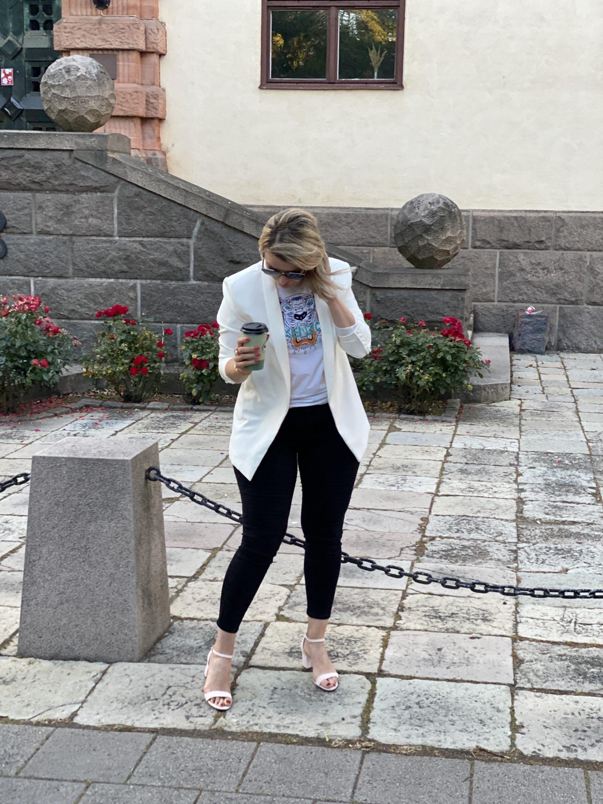 Svarta jeans med hög midja