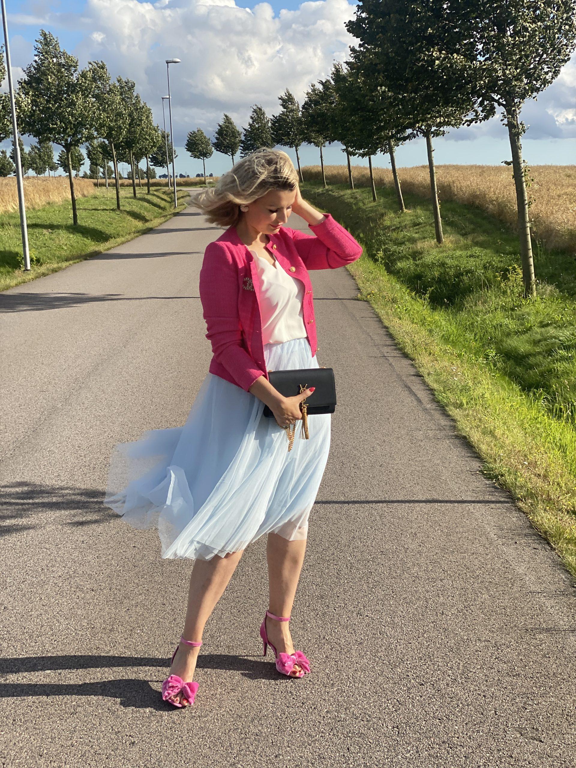 Blå tyllkjol - CARRIE BRADSHAW STYLE