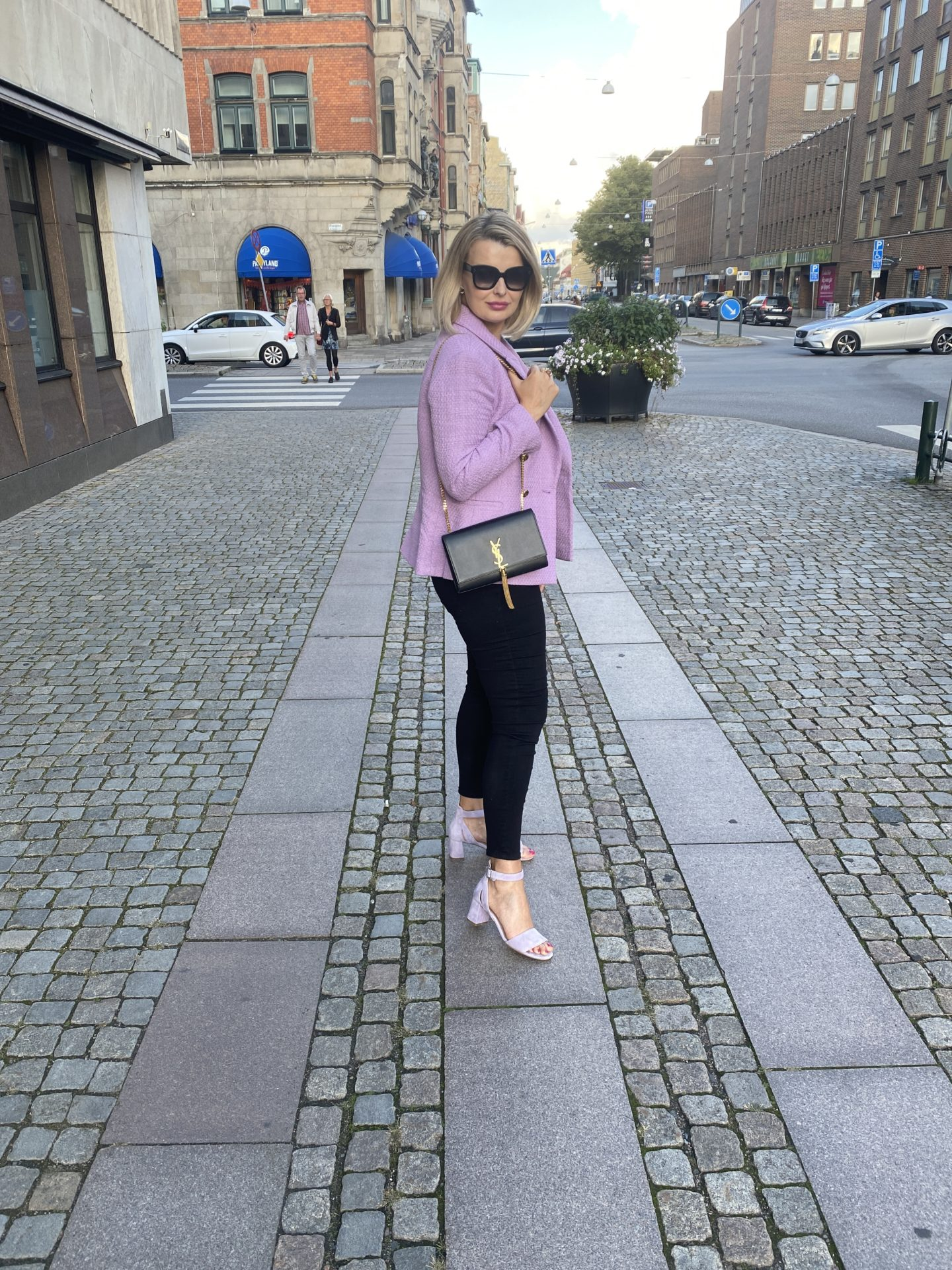 Lavendel tweed kavaj