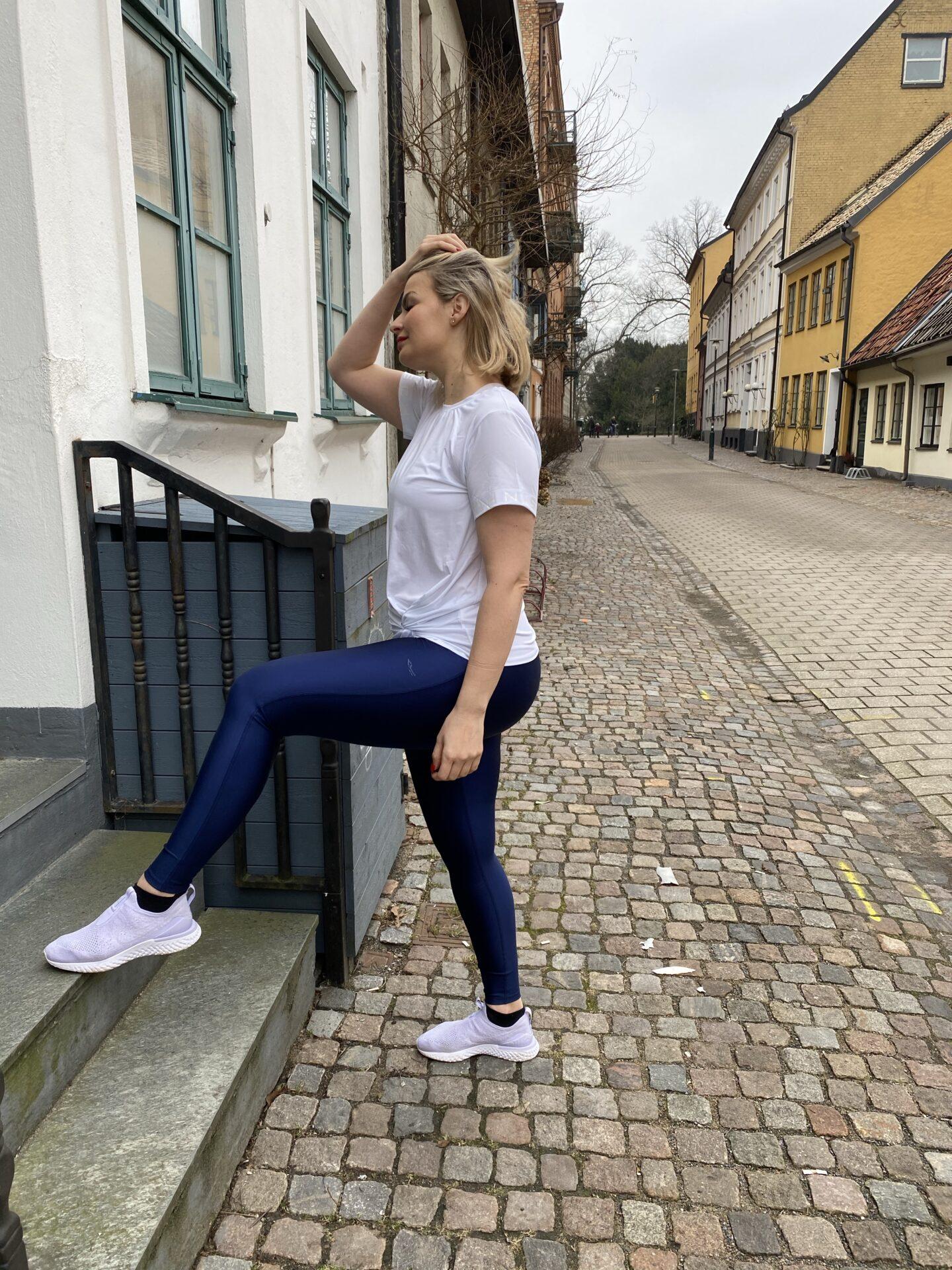 Snygga träningstights med hög midja