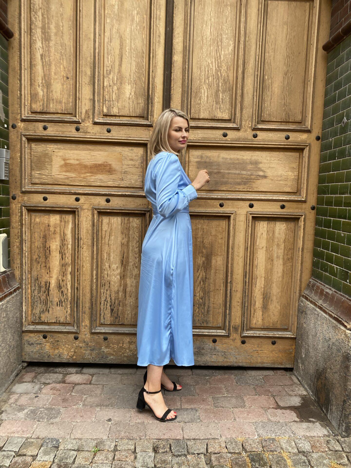 Ljusblå maxiklänning