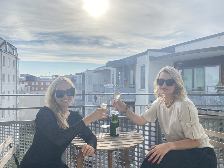 Ostron & champagne